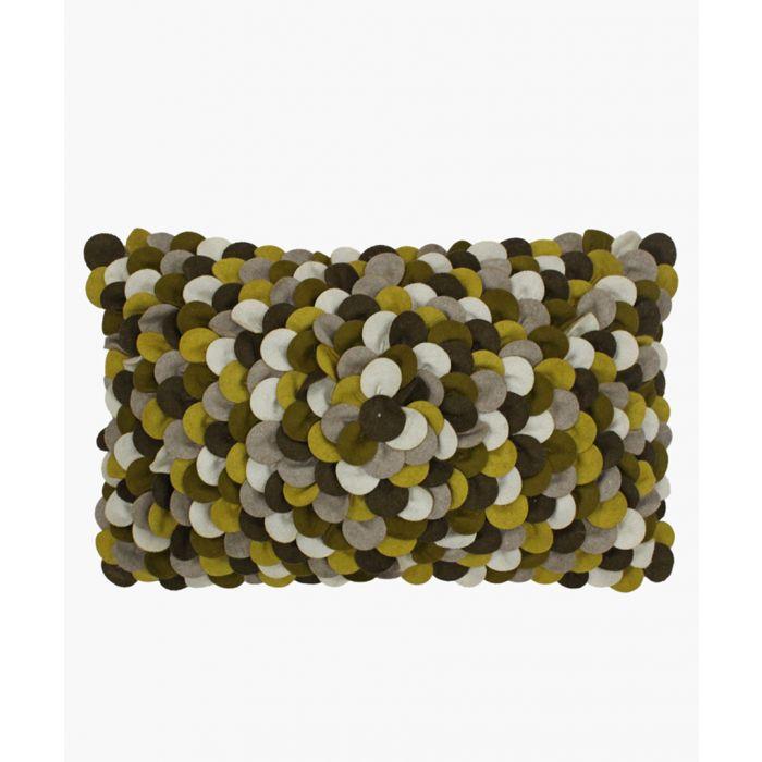 Image for Petals ochre cushion