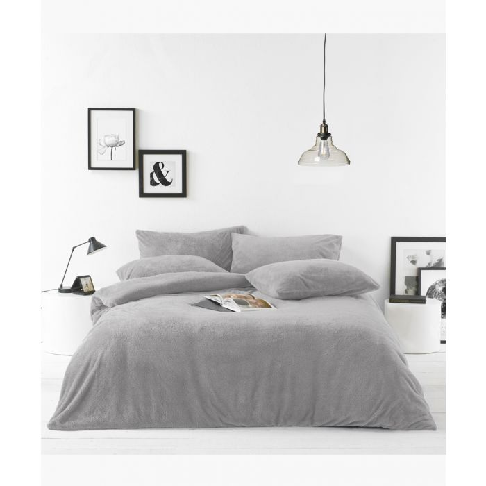 Image for Grey double duvet cover set