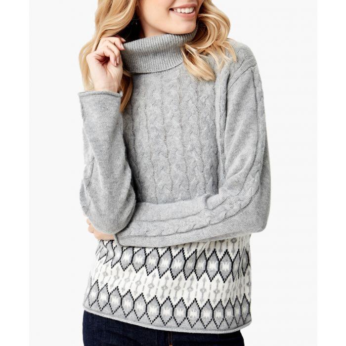 Image for Grey cashmere blend pullover