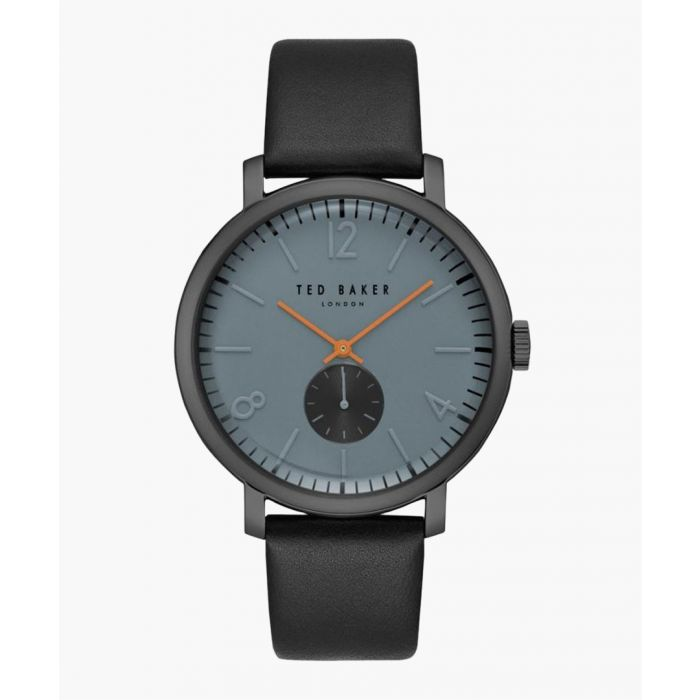 Image for Oliver grey leather and stainless steel watch
