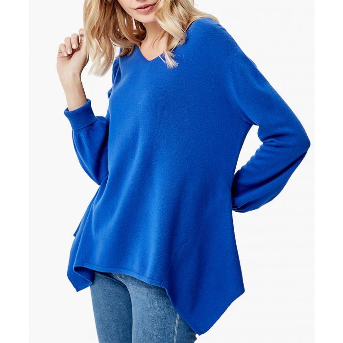 Image for Royal blue pure cashmere jumper