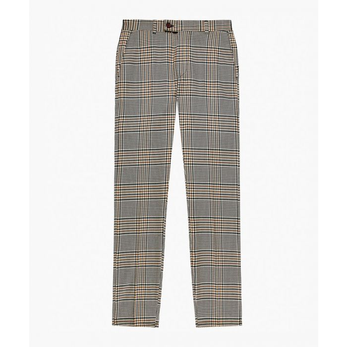 Image for Check tartan patterned skinny fit trousers