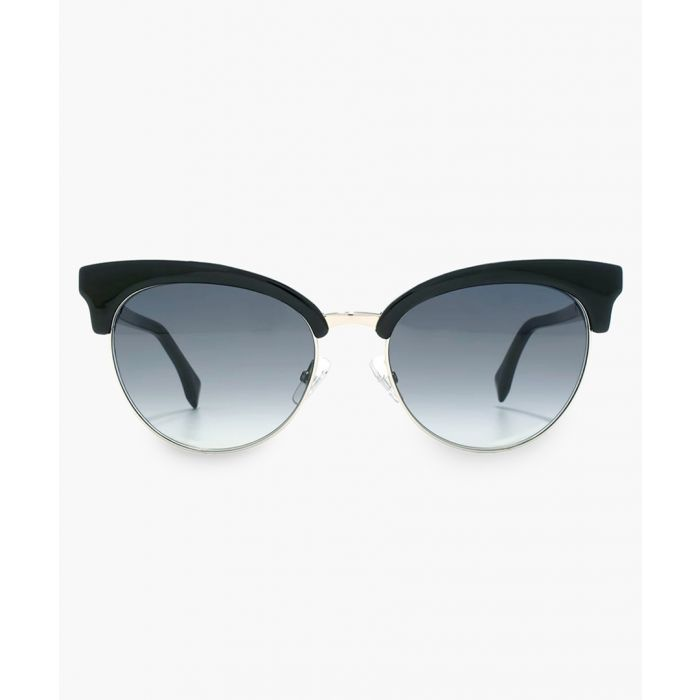 Image for Silver-tone and blue shaded sunglasses