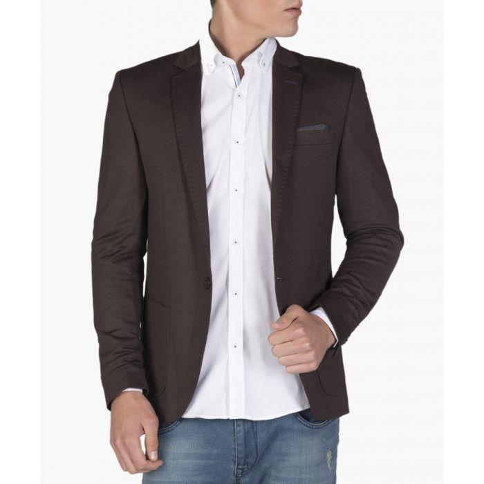 Image for Brown cotton blend blazer