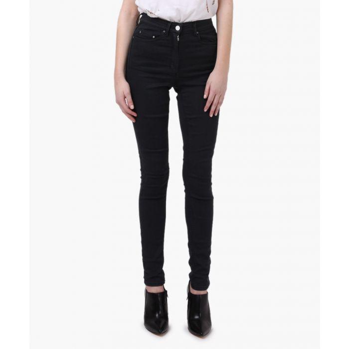Image for Jet black sacral high waisted skinny jeans