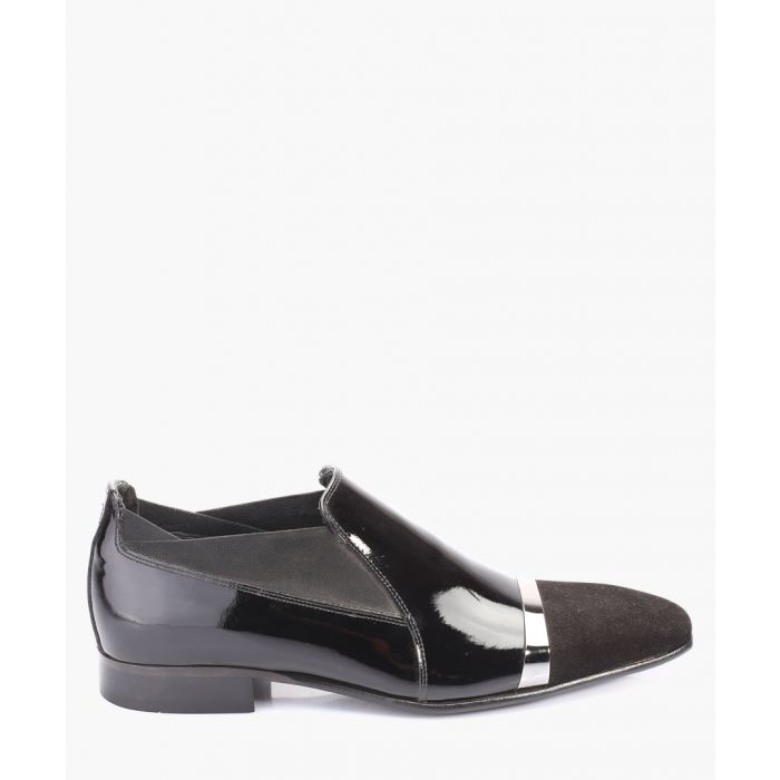 Image for Black high-shine leather loafers