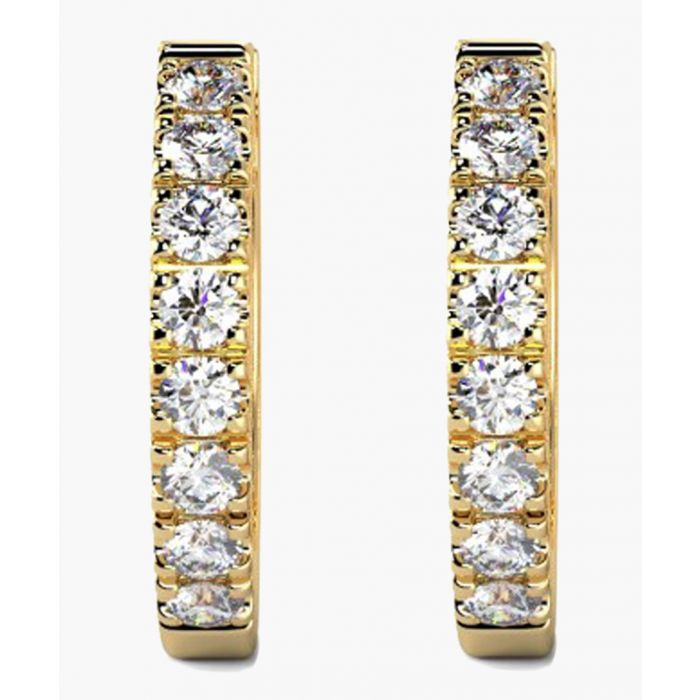 Image for 9k yellow gold and 0.30ct diamond hoop earrings