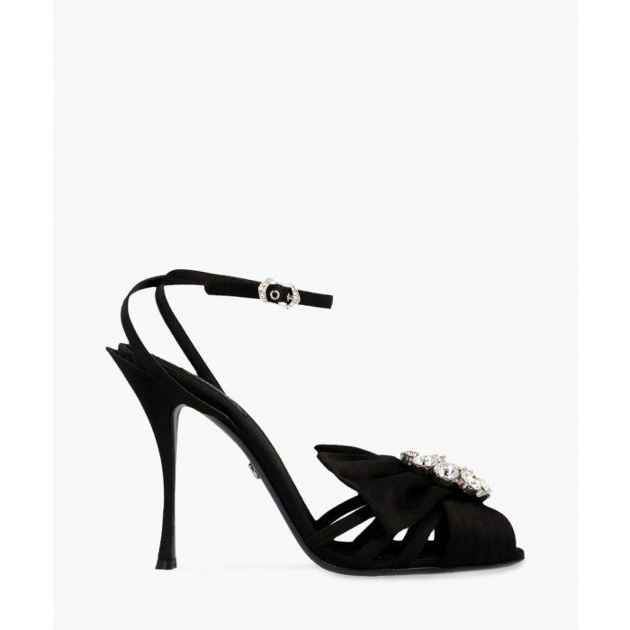 Image for Bette black satin embellished sandals
