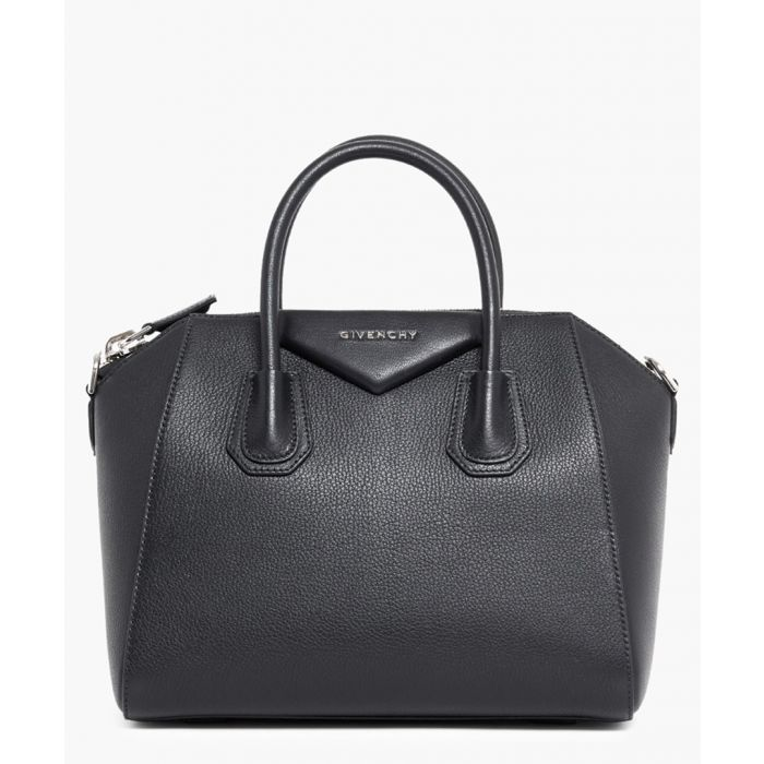Image for Small antigona black leather bag