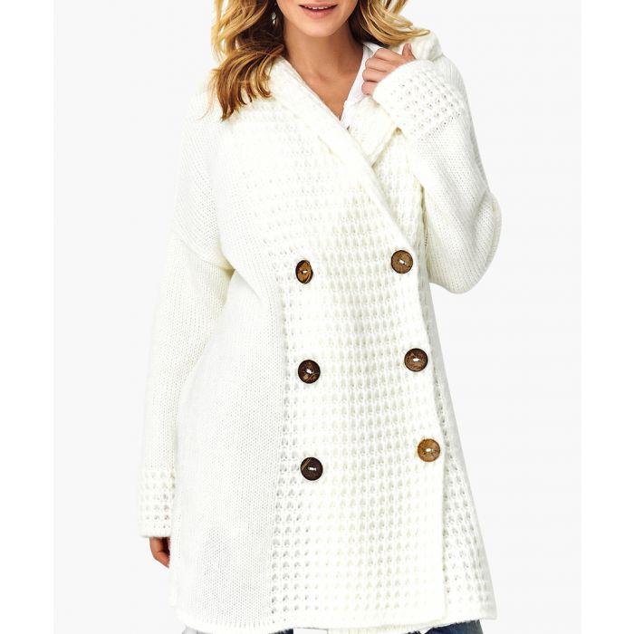Image for White wool blend jumper