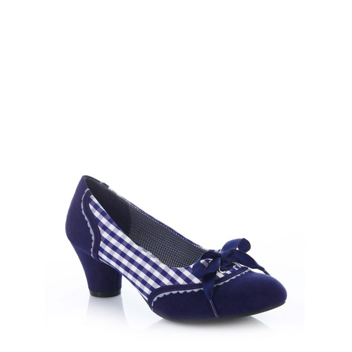 Image for Ophelia blue print bow heels