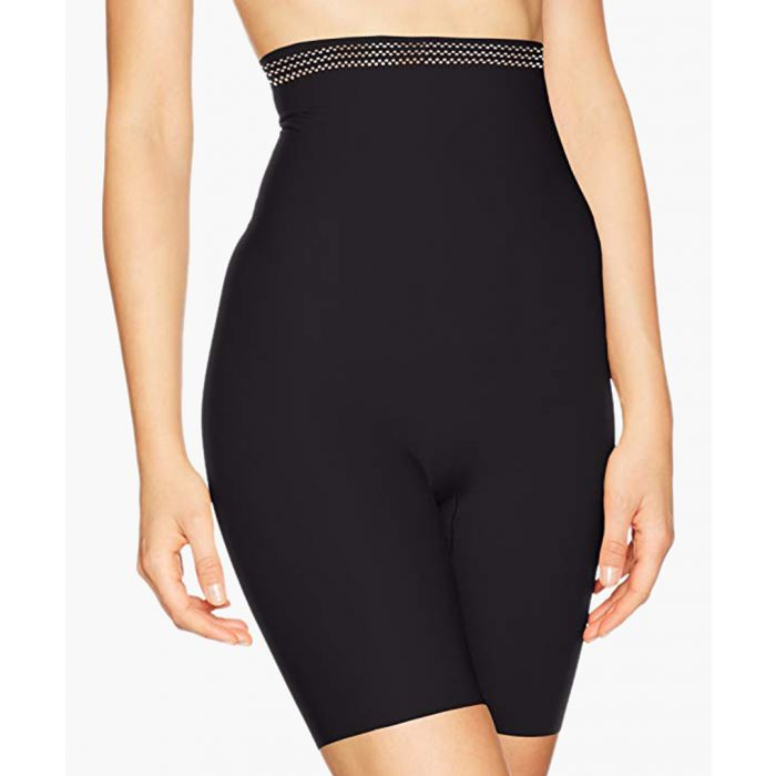 Image for Black super high-waisted thigh slimmer