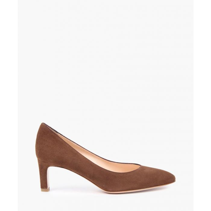 Image for Brown suede court shoes