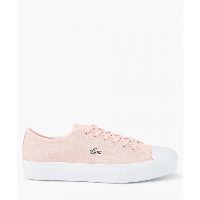 Image for Light pink leather sneakers
