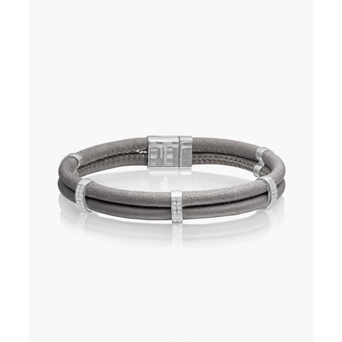 Image for Modena grey and silver-plated bracelet