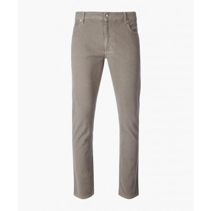 Image for Truffle brown slim fit trousers