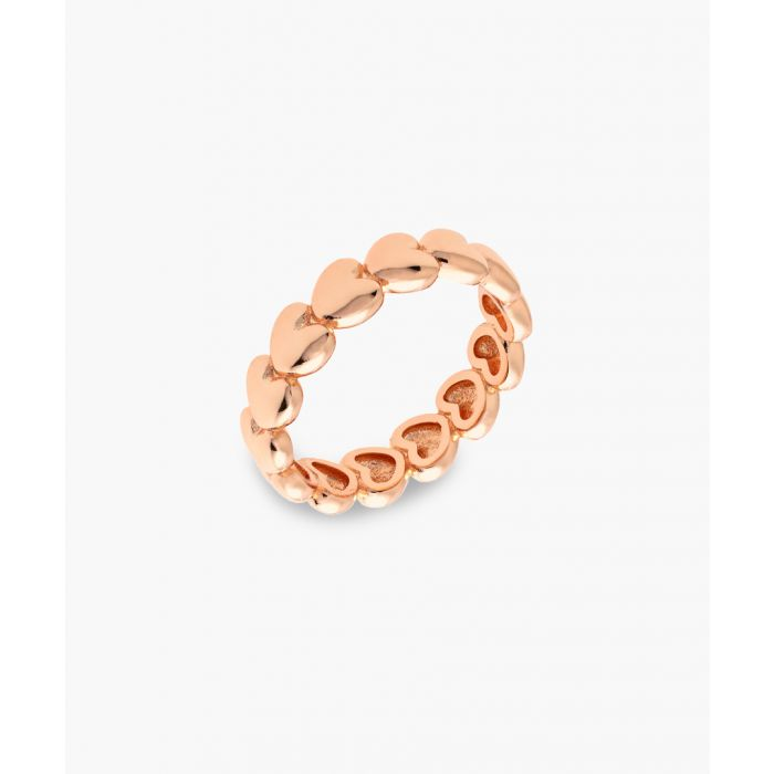 Image for 18k rose gold-plated heart ring