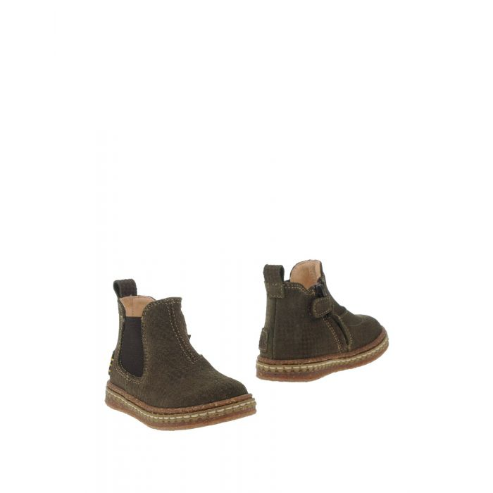 Image for Military green and rust leather ankle boots