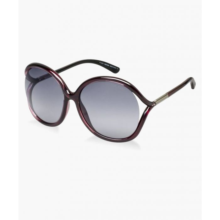 Image for Dark plum and grey oversized sunglasses