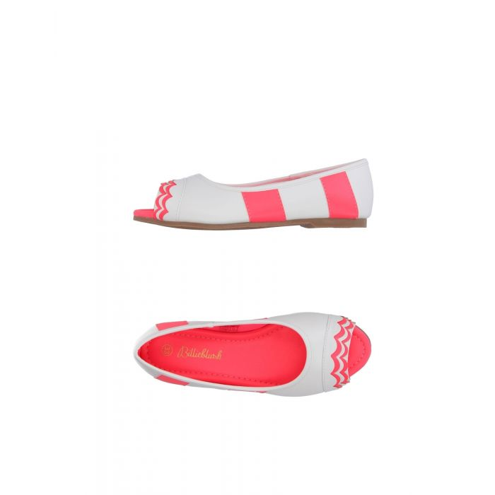 Image for White vegetable fiber ballet flats