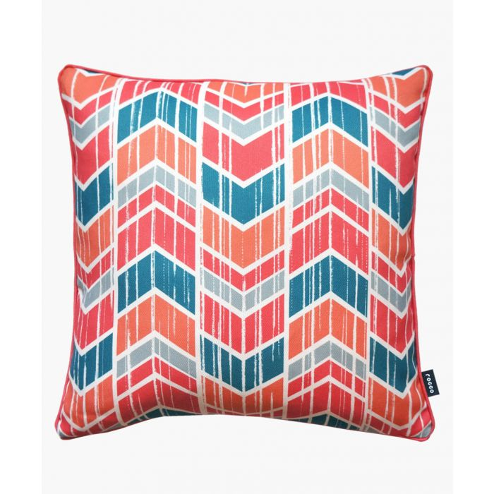 Image for Chevron coral printed cushion