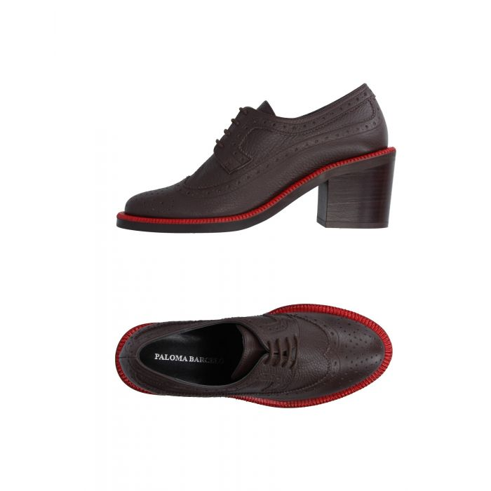Image for Dark brown buck lace-shoes