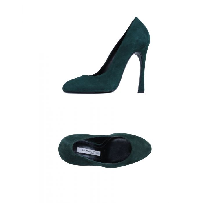 Image for Gianmarco Lorenzi Green Leather Decolletes
