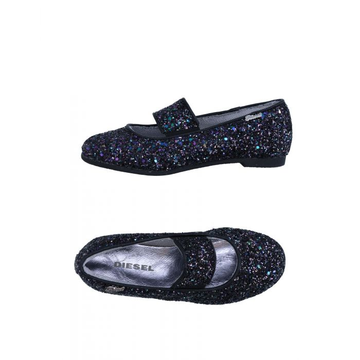 Image for Platinum black natural fibre ballet flats