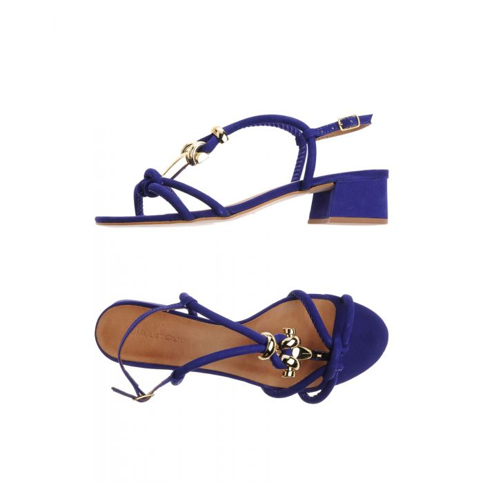 Image for Bright blue leather sandals