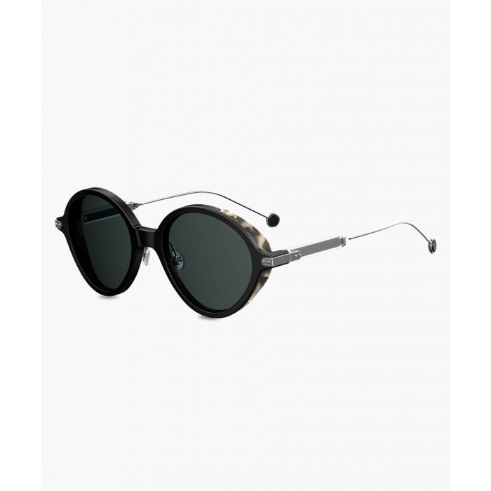 Image for Umbrage Black round sunglasses