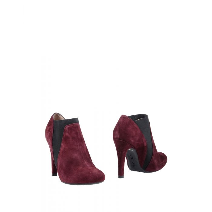 Image for Deep purple leather ankle boots