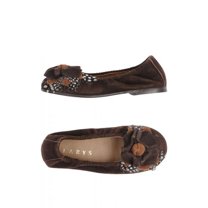 Image for Dark brown leather ballet flats