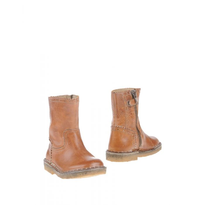 Image for Camel leather ankle boots