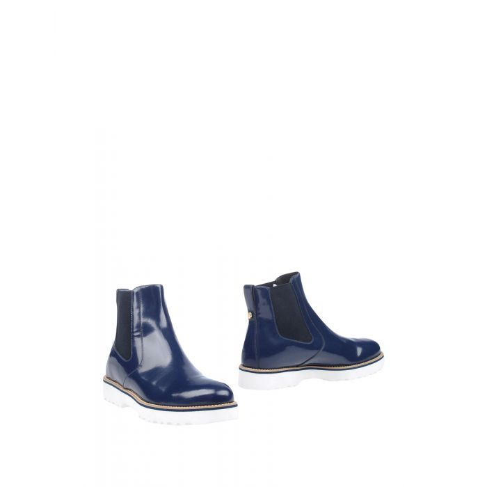 Image for Dark blue leather ankle boots