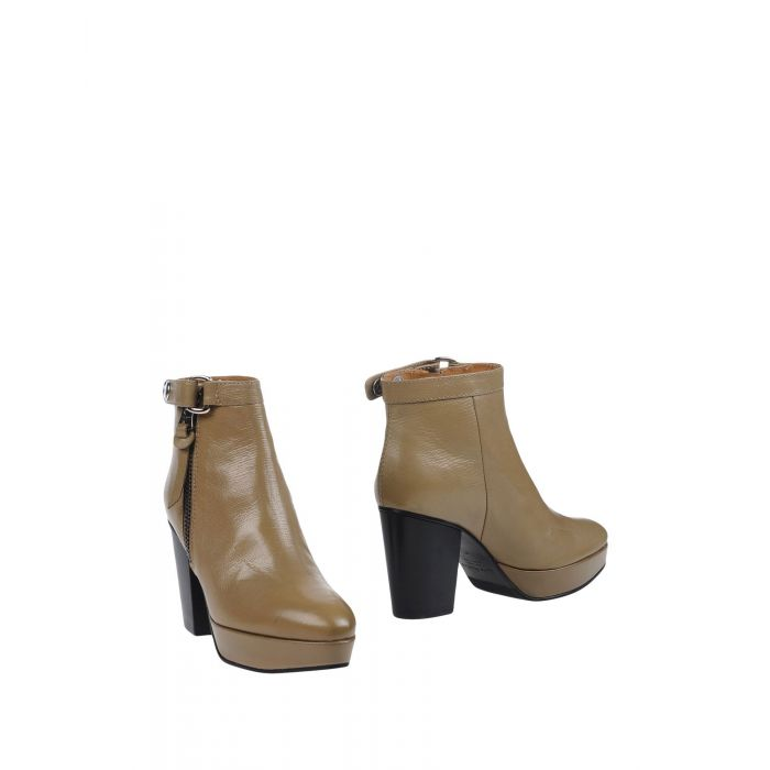 Image for Khaki leather ankle boots