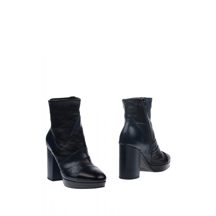 Image for Dark blue chunky heel ankle boots