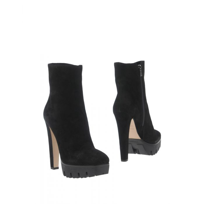 Image for Black suede-effect ankle boots