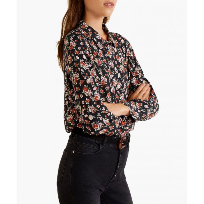 Image for Black floral print shirt