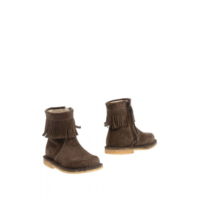 Image for Khaki leather boot