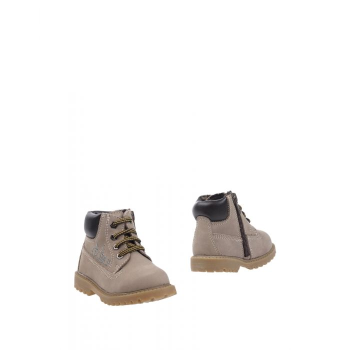 Image for Khaki and camel leather ankle boots