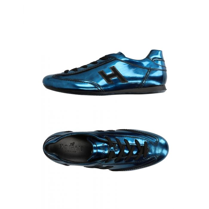 Image for Azure leather low-top trainers