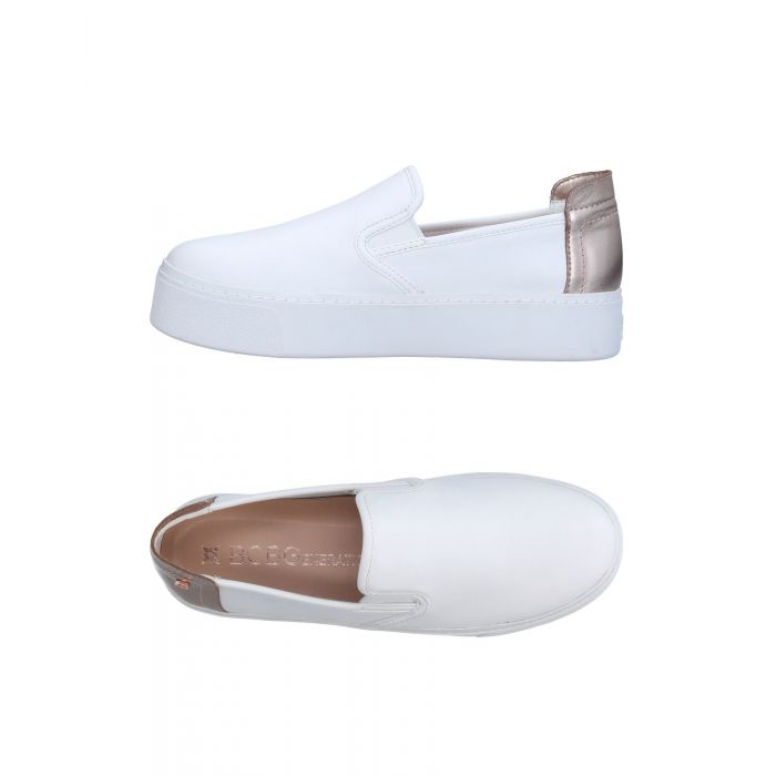 Image for White leather low-top trainers