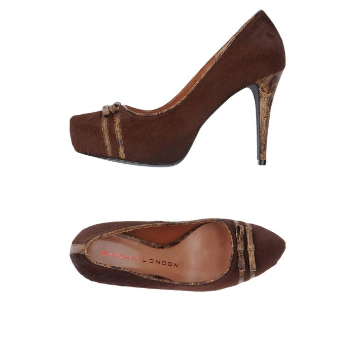 Image for Brown leather court shoes