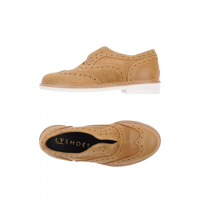 Image for L'F Shoes Camel Leather Mocassini