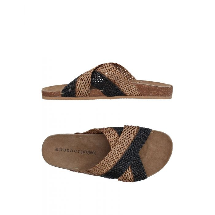 Image for Black natural fibre sandals
