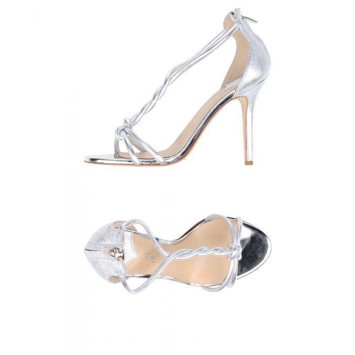 Image for Silver-tone leather sandals