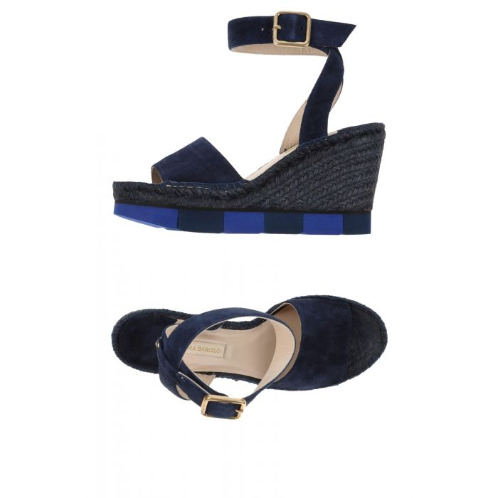 Image for Dark blue leather sandals
