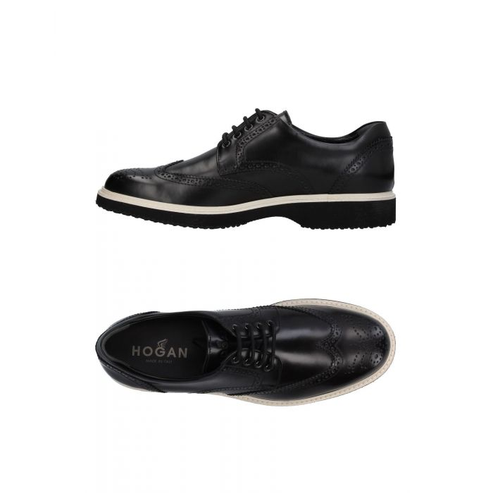 Image for Black leather lace-shoes