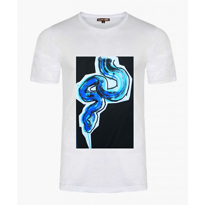 Image for White cotton snake print T-shirt