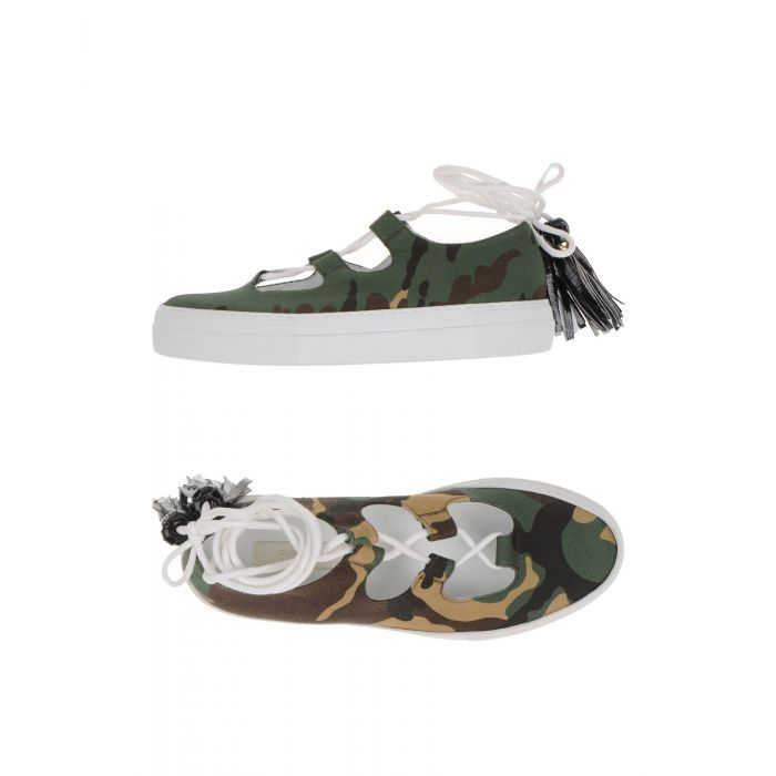 Image for Military green Textile fibres Sneakers & Tennis shoes basse